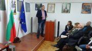 Момент от беседата в Скопие