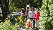 На паметника на полковник Дрангов в Пловдив